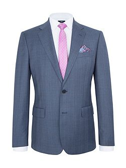 Modern Fit Blue Plain Suit Jacket