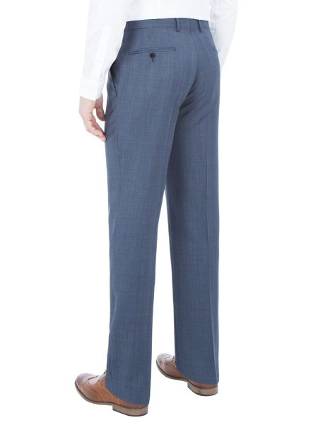 Paul Costelloe Modern fit blue check suit trousers
