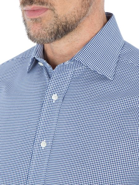 Paul Costelloe Addle Chevron Check Cotton Shirt