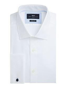 Hart Cotton Basketweave Slim-Fit Shirt