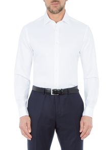 Paul Costelloe Hart Cotton Basketweave Slim-Fit Shirt