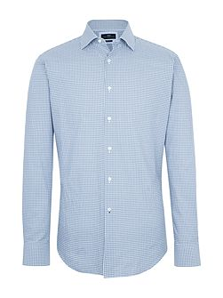 Temple Check Cotton Slim-Fit Shirt