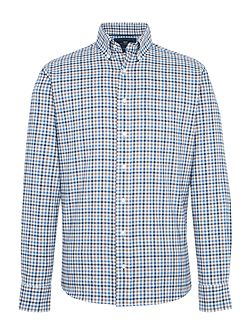 York Check Cotton Tailored Shirt