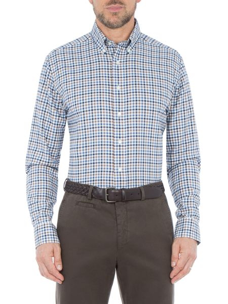 Paul Costelloe York Check Cotton Tailored Shirt