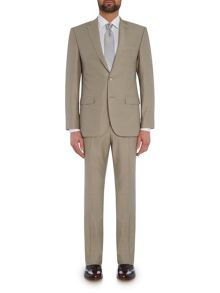 Baumler Slim fit fawn mini birdseye suit