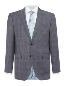 Baumler Grey prince of wales check suit