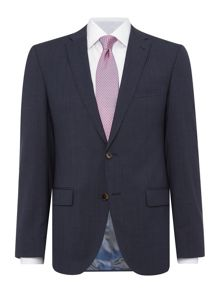 Baumler Slim fit blue travel jacket