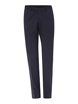 Slim fit blue travel suit trousers