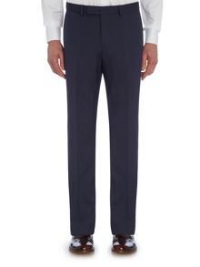 Baumler Slim fit blue travel suit trousers