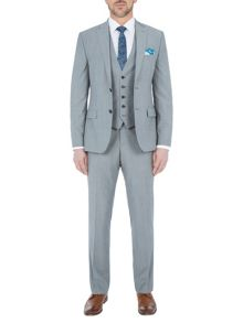 Paul Costelloe Slim Fit Grey Melange Suit Jacket