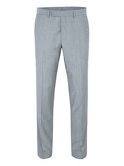 Slim fit grey melange suit trousers