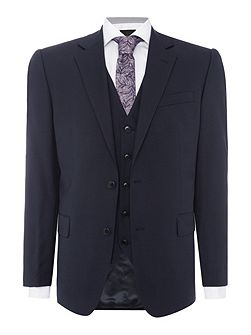 Modern fit navy three piece suit