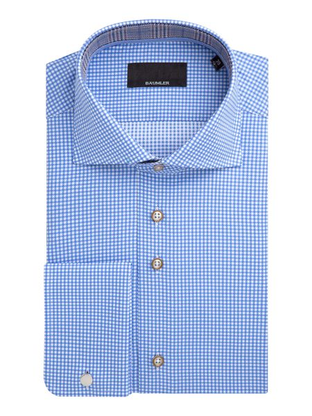 Baumler Nils Houndstooth Cotton Shirt