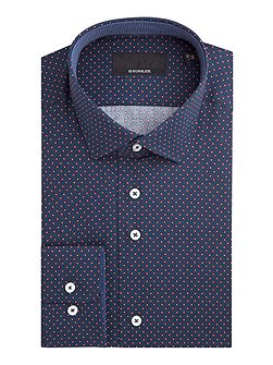 Helmut Circle Print Cotton Shirt