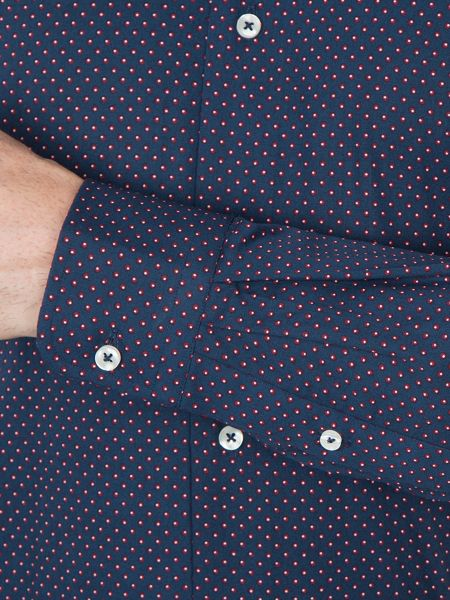 Baumler Helmut Circle Print Cotton Shirt