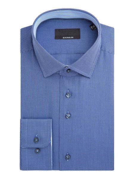 Baumler Johan Micro Houndstooth Cotton Shirt