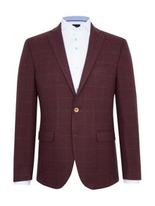 Baumler Falco Checked Wool-Rich Slim-Fit Blazer