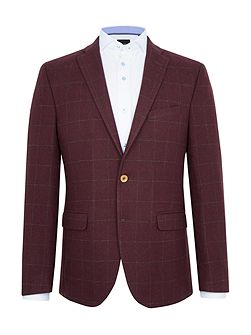 Falco Checked Wool-Rich Slim-Fit Blazer