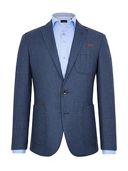 Hugo Birdseye Wool-Rich Slim-Fit Blazer