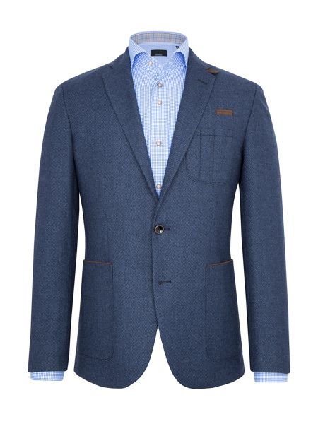 Baumler Hugo Birdseye Wool-Rich Slim-Fit Blazer