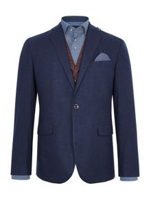 Baumler Phillip Flannel Wool-Rich Slim-Fit Blazer