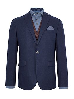 Phillip Flannel Wool-Rich Slim-Fit Blazer