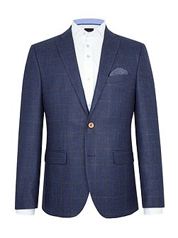 Leon Textured Wool-Rich Slim-Fit Blazer