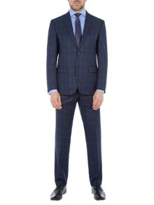 Baumler Emil Windowpane Check Slim-Fit Suit