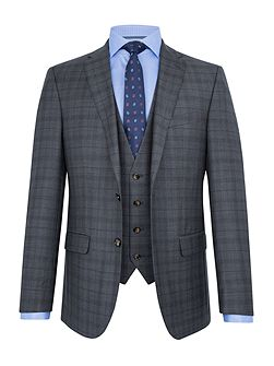 Felix Check Wool Slim-Fit Two Piece Suit