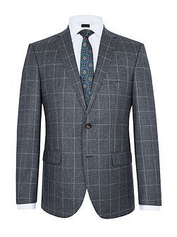Dominik Windowpane Check Slim-Fit Suit