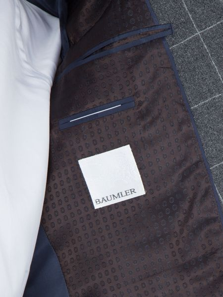 Baumler Dominik Windowpane Check Slim-Fit Suit