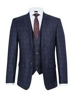 Anton Checked Slim-Fit Two Piece Suit
