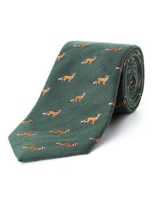 Paul Costelloe Mr Fox Silk Tie