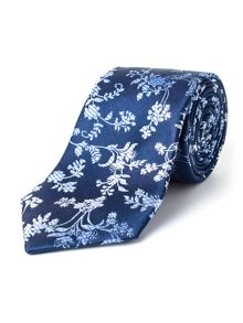 Paul Costelloe Oval Ombre Floral Silk Tie