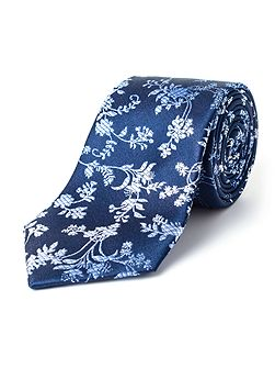 Oval Ombre Floral Silk Tie