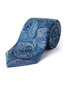 Elms Elongated Paisley Silk Tie