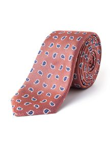 Paul Costelloe Sussex Skinny Paisley Silk Tie