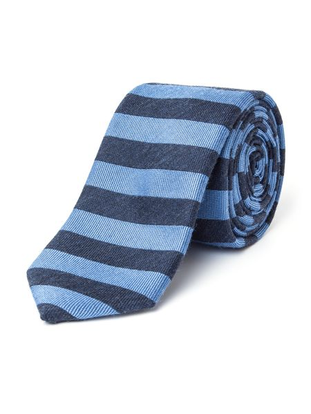 Paul Costelloe Hallam Horizontal Stripe Wool-Blend Tie