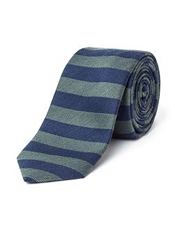 Hallam Horizontal Stripe Wool-Blend Tie