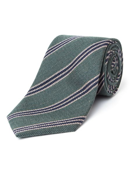 Paul Costelloe Oxford Collegiate Striped Wool-Blend Tie