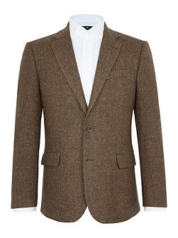 Holloway Herringbone Wool Blazer