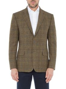 Paul Costelloe Kensington Overcheck Wool Blazer