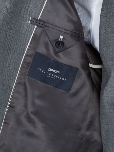 Paul Costelloe Soho Sharkskin Wool Suit Jacket
