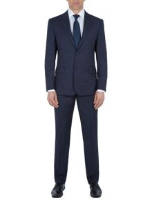 Paul Costelloe Navy Micro Check Suit