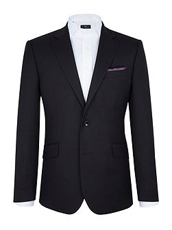 Black Textured Weave Blazer