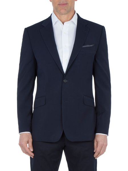 Paul Costelloe Navy Textured Weave Blazer