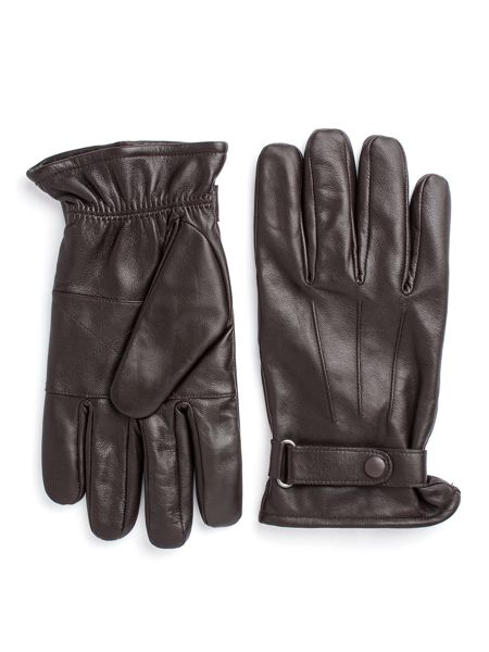 Paul Costelloe Longford Leather Gloves With Tab