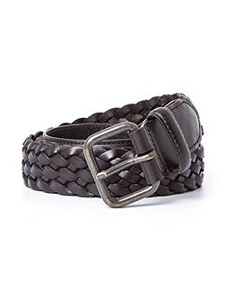 Wellington Woven Leather Casual Belt