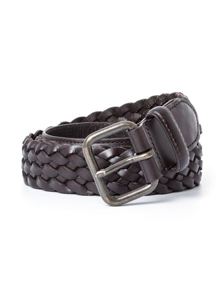 Paul Costelloe Wellington Woven Leather Casual Belt