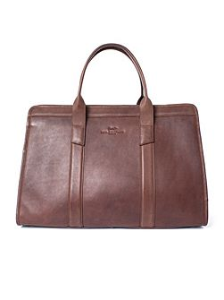 Lincoln Structured Leather Holdall